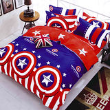 美夢元素 美國隊長 天鵝絨涼被床包組 雙人加大四件式
