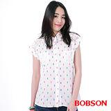 BOBSON 女款搭配蕾絲布襯衫 (25133-81)