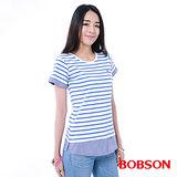 BOBSON 女款仿兩件式上衣(26102-54)