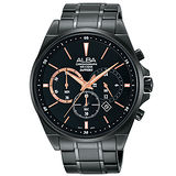 ALBA雅柏 情人節限定時尚三眼計時男用腕錶/44mm/VD53-X255SD
