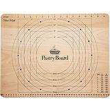 《KitchenCraft》櫸木測量揉麵板(45cm)