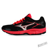MIZUNO (女) Wave 女慢跑鞋WAVE IMPETUS 4 (W) 黑紅-J1GD161303
