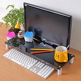 【方陣收納】高質烤漆金屬桌上螢幕架/鍵盤架(黑色)