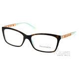 Tiffany & Co.光學眼鏡 浪漫羅馬數字邊飾款(琥珀-蒂芬妮綠金) #TF2103B 8134