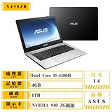 ASUS 華碩 X450JB-0053D4200H i5-4200H/14吋/4G/1TB/NV940 2G 高效能獨顯筆電 Win10上市 送OFFICE