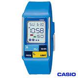 CASIO卡西歐 Poptone系列長方型時尚粉彩數位流行錶 LDF-50-2D