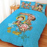 【享夢城堡】單人床包兩用被組-航海王 尋寶之路系列
