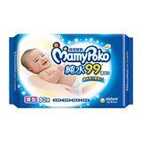 滿意寶寶 天生柔嫩溫和純水厚型溼巾-補充包(80入 x 12包/箱)