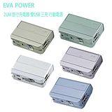 EVA POWER 2UM 旅行充電器雙USB三充行動電源 贈Panasonic充電鋰電池