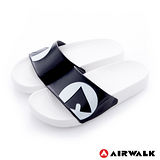 AIRWALK(男) - 輕盈舒適中性EVA休閒多功能室內外拖鞋 - 熊貓白黑