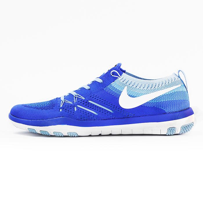 nike 女 WMN NIKE FREE TR FOCUS FLYKNIT 慢跑鞋 藍 - 844817401