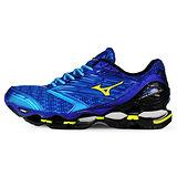 Mizuno 男 WAVE 慢跑鞋 WAVE PROPHECY 5 美津濃 慢跑鞋 藍 J1GC160047
