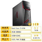 ASUS 華碩 G11CB-0051A670GXT I7-6700/8G DDR4/1TB+128G SS D/GTX960 2G DDR5/DRW/WIN10