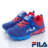 FILA頂級童鞋款-編織輕量慢跑鞋803Q-321藍-(20cm~24cm)