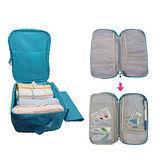 【英國熊】一把罩多用途收納旅行袋及護照包組