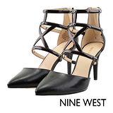 NINE WEST--條帶鏤空尖頭高跟鞋--神秘黑