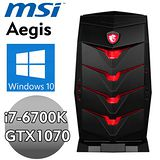 【MSI】Aegis-X-006TW【神盾宙斯】(i7-6700K/16G/1TB+256G SSD/ GTX1070 8G) 獨顯電競電腦