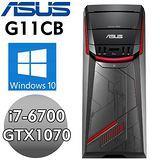 【ASUS】G11CB-0071A670GXT【浴血霸王】(I7-6700/16G/1TB+256G SSD/GTX1070 8G/WIN10) 電競電腦【送】炫彩水舞喇叭