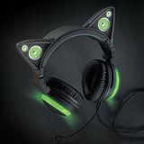 Brookstone 貓耳造型頭戴式耳機 綠