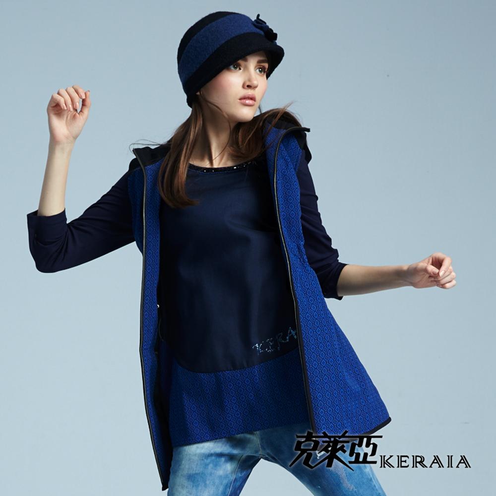 【克萊亞KERAIA】拼接設計感縫珠上衣