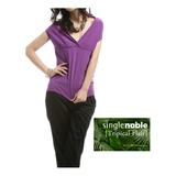 獨身貴族 時尚V領 無袖針織上衣(共三色)-幻影紫