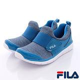 FILA頂級童鞋款-易穿脫休閒運動款816Q-333藍-(20cm~24cm)