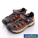 GOODYEAR戶外鞋-水陸兩穿護趾涼鞋(MS63823咖桔-男段-24-29cm)