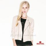 BRAPPERS 女款 女用短版小立領外套-卡其