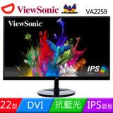 ViewSonic 優派 VA2259 22型AH-IPS雙介面液晶螢幕