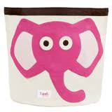 加拿大 3 Sprouts 收納籃-粉紅大象