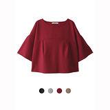 日本ANNA LUNA 預購-日本VIVI雜誌款 喇叭袖摺邊造型上衣(共四色)