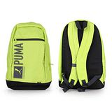 PUMA PIONEER後背包-雙肩包 肩背包 18吋筆電 芥末綠灰 F
