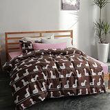 美夢元素 台灣製天鵝絨 小白鵝 單人三件式床包被套組