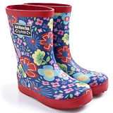 英國 JoJo Maman BeBe 嬰幼兒童雨鞋 繽紛花園2(JJWG1-015)