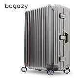 【Bogazy】炫燦幻影 29吋PC鋁框磨砂霧面防刮行李箱(摩登棕)