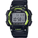 CASIO 十年電力運動腕錶-黑x綠 W-736H-3AVDF