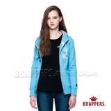 BRAPPERS 女款 女用合身版休閒連帽外套-水藍