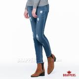 BRAPPERS 女款 新美腳Royal系列-女用中低腰彈性針織九分褲-淺藍