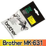 Brother MK-631 PT-65專用MK標籤帶 12mm 黃底黑字