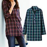 日本Portcros 預購-簡單設計長版純棉襯衫(共四色)