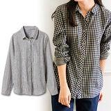日本Portcros 預購-百搭基本款純棉襯衫-條紋/M