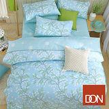 《DON香草天空》雙人四件式蜜絲絨全舖棉兩用被床包組