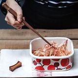 【Homely Zakka】小紅莓附蓋琺瑯盒儲物罐/輕食便當盒/烤盤烤皿(700ml方盒S)
