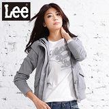 Lee 長袖外套 附帽拉鍊雙層防風-女款(灰) LL11048801G