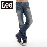 Lee 101牛仔褲前開扣 低腰合身直筒-男款(二手藍) LL1202999IR