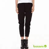 bossini女裝-時尚哈倫褲01黑