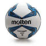 MOLTEN 合成皮足球-5號 運動 戶外 白藍黑 F
