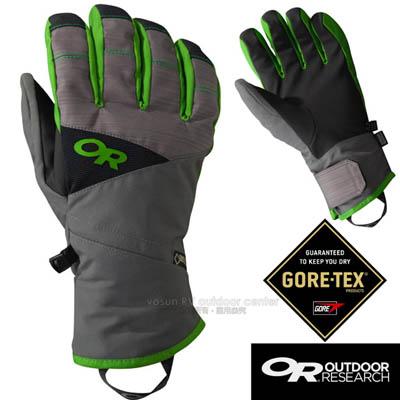 【美國 Outdoor Research】男款 Centurion Gore-tex 防水防風透氣保暖手套.滑雪手套.機車手套/EnduraLoft保暖纖維/OR243364 灰綠