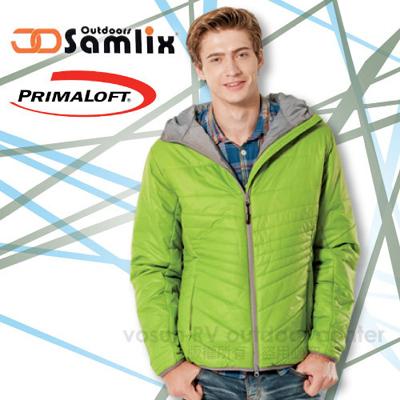 【山力士 SAMLIX】男Primaloft 輕量保暖外套.休閒外套.雪衣.防風.防潑水(非羽絨外套)/綠 66813
