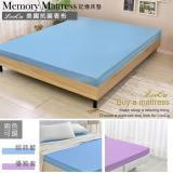 【特賣】LooCa美國抗菌8cm記憶床墊-加大